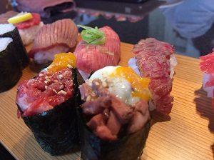飛牛焼肉こうりん、肉寿司握り合わせランチ
