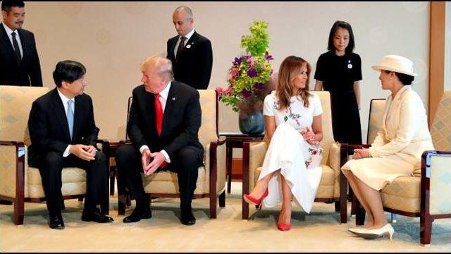 トランプ夫妻、両陛下、懇談