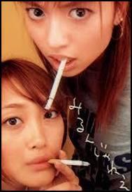 片瀬那奈、喫煙
