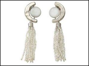 ADER.bijoux (アデル ビジュー)、FRAGMENT ガラスタッセルイヤリング