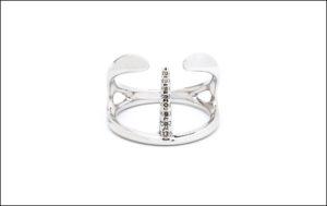 HIROTAKA、Manta Spine Ring (WhiteGold)