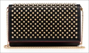 Christian Louboutin (クリスチャンルブタン)、Paloma spiked leather clutch