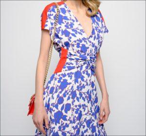 PINKO、ラズベリー プリントの入ったロングドレス