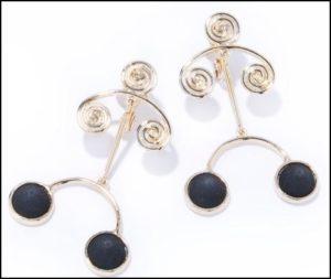 IRIS47、spiral earring