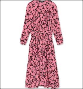 POUSTOVIT(ポストビット)、Floral Midi Gather Dress