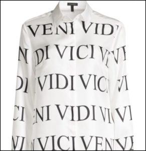 Escada(エスカーダ)、Nesisa Veni Vidi Printed Silk Blouse