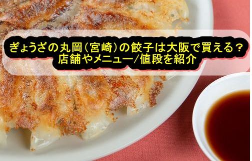 ぎょうざの丸岡(宮崎)の餃子は大阪で買える?店舗やメニュー/値段を紹介