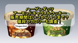 ハーゲンダッツのアーモンドキャラメルクッキーの販売期間はいつからいつまで?値段やカロリーも調査!
