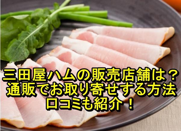 三田屋ハムの販売店舗は?通販でお取り寄せする方法や口コミも紹介!