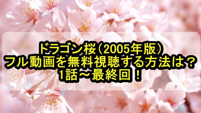 ドラゴン桜(2005年版)フル動画を無料視聴する方法は?1話~最終回!