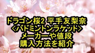 ドラゴン桜2 平手友梨奈のバドミントンラケットのメーカーや値段、購入方法を紹介