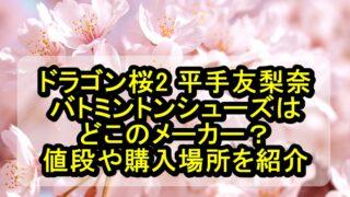 ドラゴン桜2 平手友梨奈のバトミントンシューズはどこのメーカー?値段や購入場所を紹介
