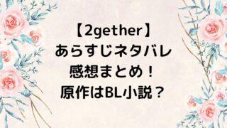 2gether/トゥギャザー あらすじネタバレ・感想まとめ!原作はBL小説?