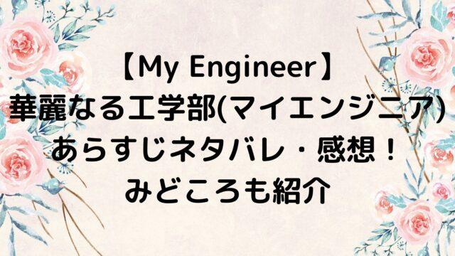 My Engineer 〜華麗なる工学部~/マイエンジニア あらすじネタバレ・感想まとめ!みどころも紹介
