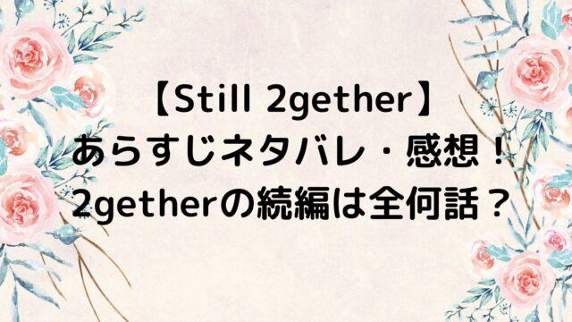 Still 2gether/スティルトゥギャザー あらすじネタバレ・感想!2getherの続編は全何話?