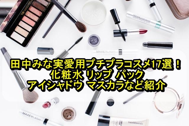 田中みな実愛用プチプラコスメ17選!化粧水 リップ パック アイシャドウ マスカラなど紹介